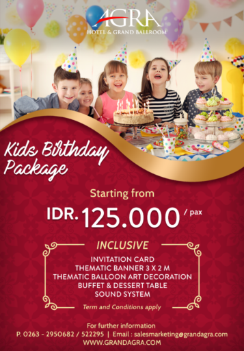 KIDS BIRTHDAY PACKAGE 2020